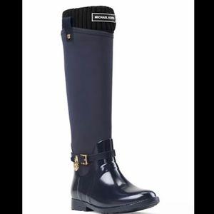 MICHAEL KORS Socks LOGO RIBBED BOOT SOCKS Fleece